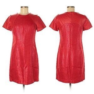 Shoshanna Red Mixed Media Dress